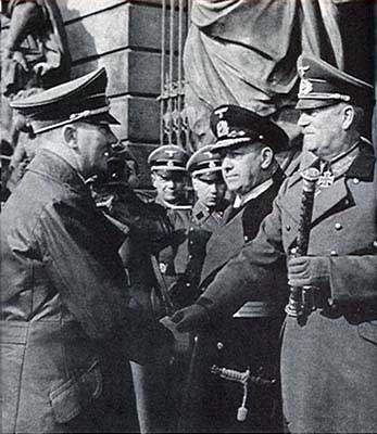 Hitler, Raeder, and Keitel, Mar 1942