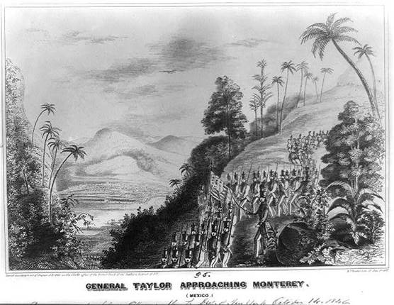 General Taylor approaching Monterey (Mexico)