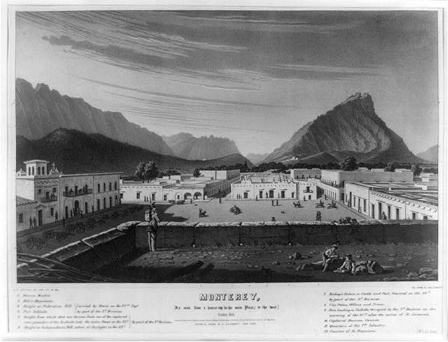 Monterey, as seen from a house-top in the main Plaza, [to the west.] October, 1846